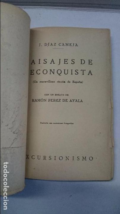 Libros antiguos: Juan Díaz Caneja: Paisajes de recoquista (1926) - Foto 4 - 96118527