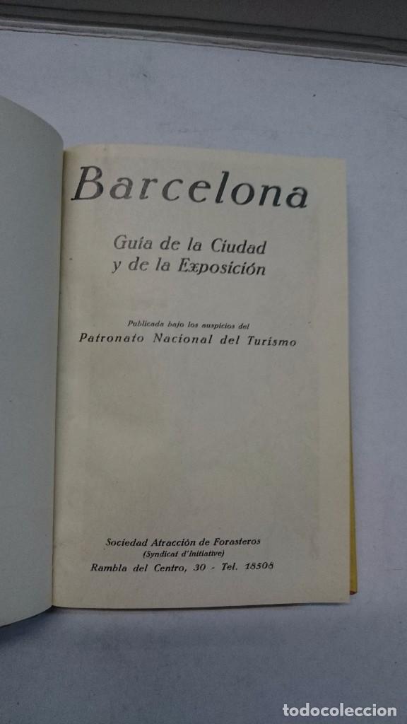 Libros antiguos: Barcelona: Guia de la ciudad y de la Exposición + 3 planos - Foto 4 - 96403839