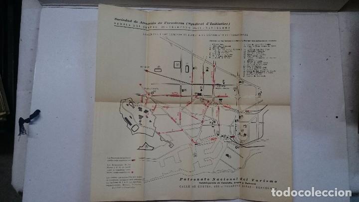 Libros antiguos: Barcelona: Guia de la ciudad y de la Exposición + 3 planos - Foto 9 - 96403839