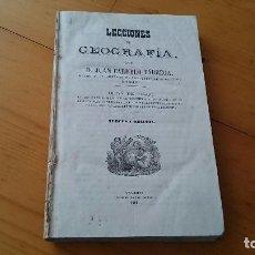 Libros antiguos: LECCIONES DE GEOGRAFÍA - CARMELO TARREGA - OBRA DE TEXTO EN COLEGIOS MILITARES - TOLEDO 1860. Lote 97573835