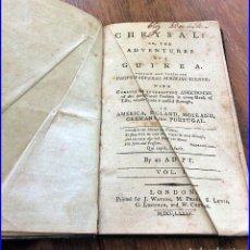 Libros antiguos: AÑO 1785: LAS VENTURAS EN GUINEA. RARO LIBRO DEL SIGLO XVIII.. Lote 97733855