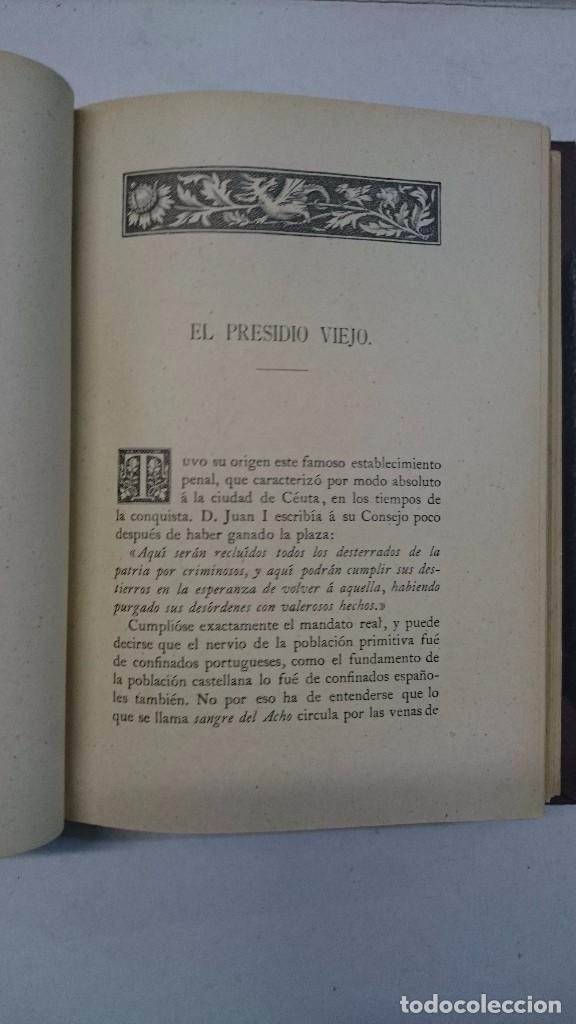 Libros antiguos: Manuel Tello Amondareyn: Ceuta. Llave Principal del estrecho (1897) - Foto 6 - 98847191
