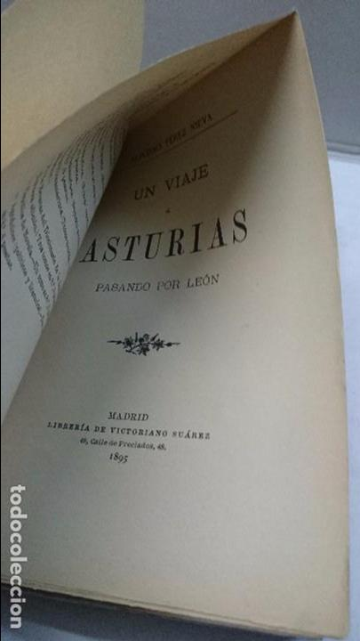 Libros antiguos: Alfonso Pérez Nieva: Un viaje por Asturias pasando por León (1895) - Foto 4 - 98849151