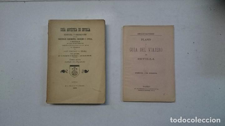 SEVILLA: GUÍA ARTÍSTICA DE SEVILLA (1918) - PLANO Y GUÍA DEL VIAJERO (VALVERDE) - 2 LIBROS (Libros Antiguos, Raros y Curiosos - Geografía y Viajes)