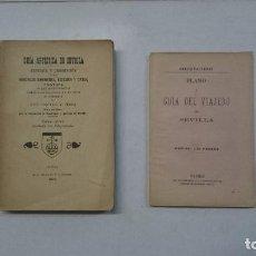 Libros antiguos: SEVILLA: GUÍA ARTÍSTICA DE SEVILLA (1918) - PLANO Y GUÍA DEL VIAJERO (VALVERDE) - 2 LIBROS. Lote 99054331