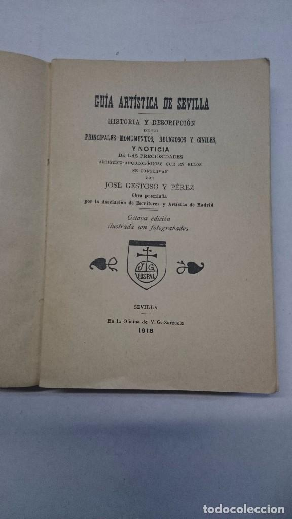 Libros antiguos: Sevilla: Guía artística de Sevilla (1918) - Plano y Guía del Viajero (Valverde) - 2 libros - Foto 4 - 99054331