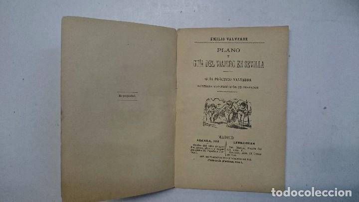 Libros antiguos: Sevilla: Guía artística de Sevilla (1918) - Plano y Guía del Viajero (Valverde) - 2 libros - Foto 9 - 99054331