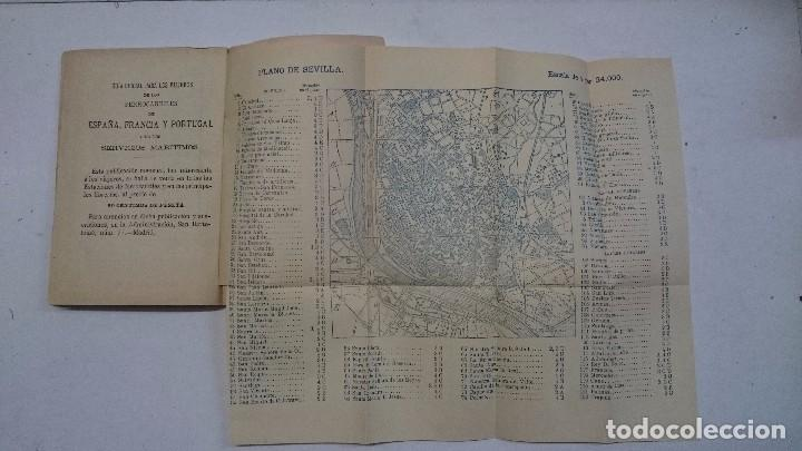 Libros antiguos: Sevilla: Guía artística de Sevilla (1918) - Plano y Guía del Viajero (Valverde) - 2 libros - Foto 12 - 99054331