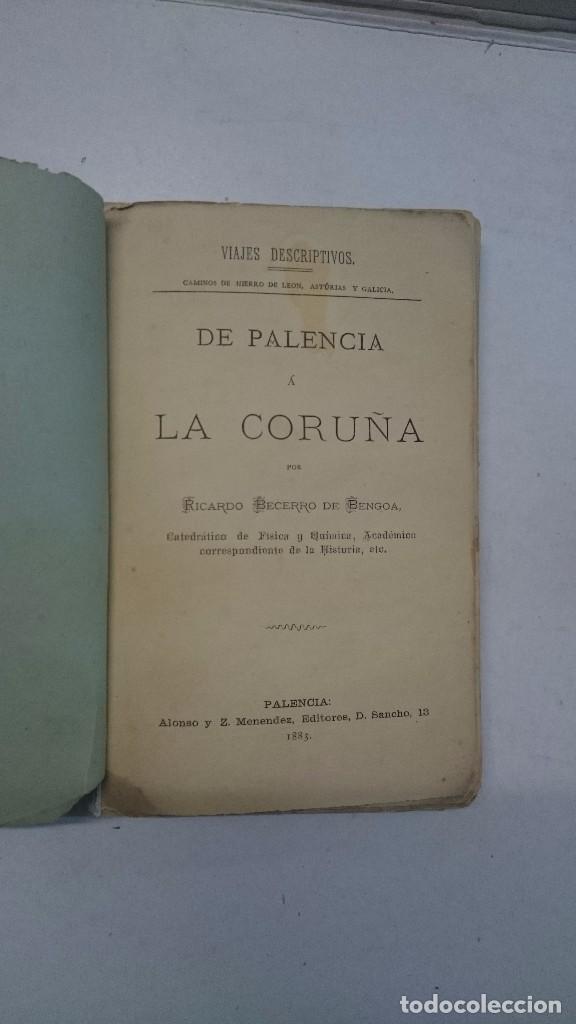 Libros antiguos: Ricardo Becerro de Bengoa: De Palencia a La Coruña (1883) - Foto 4 - 99344615