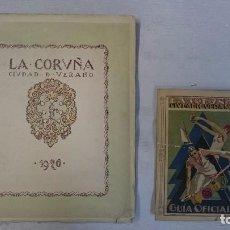 Libros antiguos: LA CORUÑA: CIUDAD DE VERANO 1926 Y 1928 (2 LIBROS). Lote 99520823