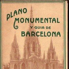 Libros antiguos: J. FOLCH / MASRIERA : PLANO MONUMENTAL Y GUÍA DE BARCELONA C. 1930. Lote 99966403