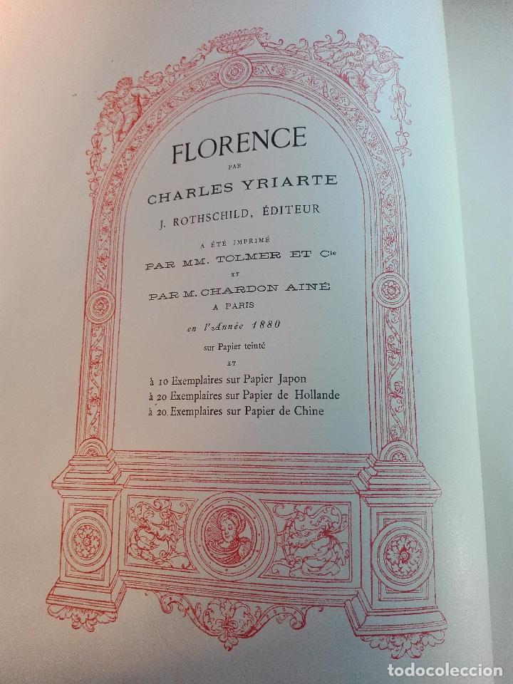 Libros antiguos: FLORENCE - PAR CHARLES YRIARTE - J. ROTHSCHILD, EDITEUR - PARIS - 1881 - 500 GRABADOS - MUY BELLO - - Foto 14 - 265414919