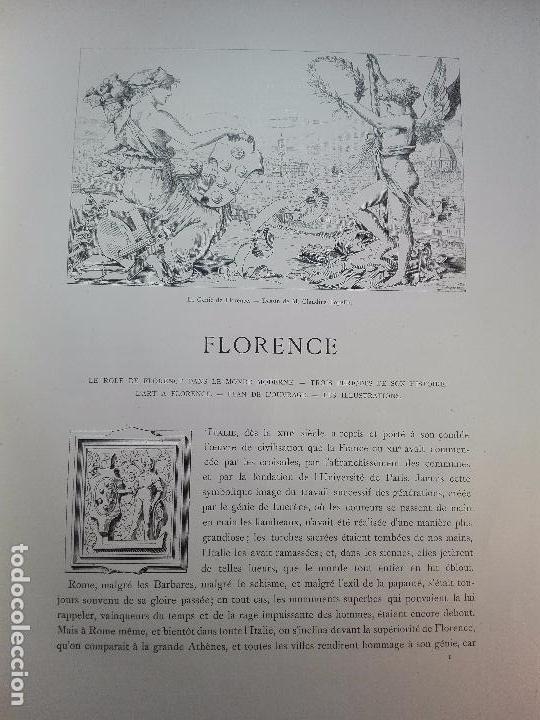 Libros antiguos: FLORENCE - PAR CHARLES YRIARTE - J. ROTHSCHILD, EDITEUR - PARIS - 1881 - 500 GRABADOS - MUY BELLO - - Foto 18 - 265414919