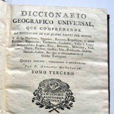 Libros antiguos: DICCIONARIO GEOGRAFICO - TOMO III- MONTPALAU -1793. Lote 100996059