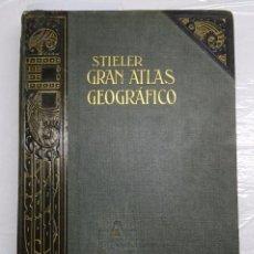 Libros antiguos: GRAN ATLAS GEOGRAFICO DE STIELER CON 100 GRANDES MAPAS Y 162 MAPAS SUPLEMENTARIOS GRABADOS EN COBRE. Lote 101276039
