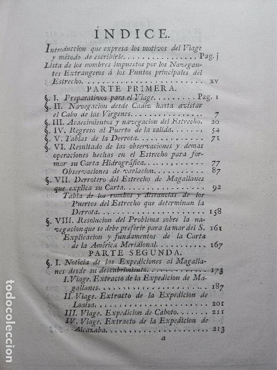 Libros antiguos: RELACIÓN DEL ÚLTIMO VIAGE AL ESTRECHO DE MAGALLANES DE LA FRAGATA DE S.M. S. Mª DE LA CABEZA - 1788 - Foto 8 - 101318855