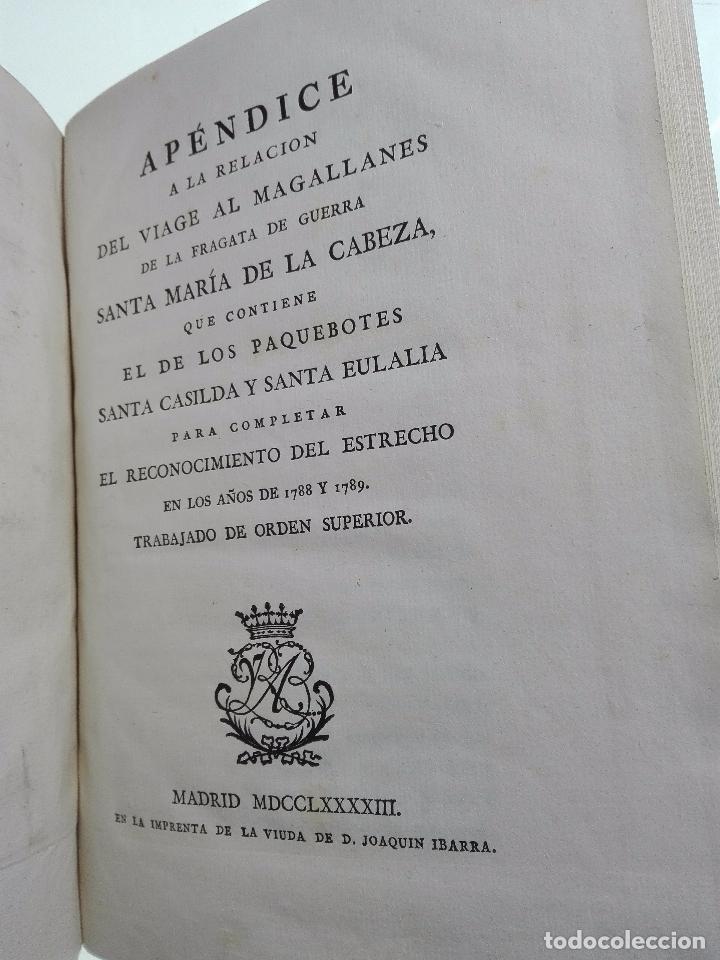Libros antiguos: RELACIÓN DEL ÚLTIMO VIAGE AL ESTRECHO DE MAGALLANES DE LA FRAGATA DE S.M. S. Mª DE LA CABEZA - 1788 - Foto 24 - 101318855