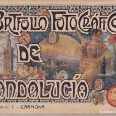 Libros antiguos: PORTFOLIO FOTOGRÁFICO DE ANDALUCÍA. CUADERNO Nº 1: CARMONA (SEVILLA), BARCELONA, SIN FECHA. Lote 101435047