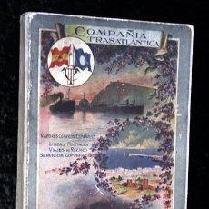 Libros antiguos: COMPAÑIA TRASATLANTICA - VAPORES CORREOS ESPAÑOLES - ALBUM COSTAS Y CIUDADES MARITIMAS - 1913 - 14. Lote 154973122