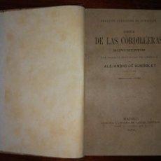 Libros antiguos: SITIOS DE LAS CORDILLERAS Y MONUMENTOS DE LOS PUEBLOS INDÍGENAS DE AMÉRICA. A. HUMBOLDT (1878). Lote 103295071