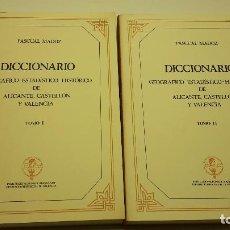 Libros antiguos: DICCIONARIO GEOGRÁFICO-ESTADÍSTICO-HISTÓRICO DE ALICANTE, CASTELLÓN Y VALENCIA. MADOZ, PASCUAL. Lote 103706279