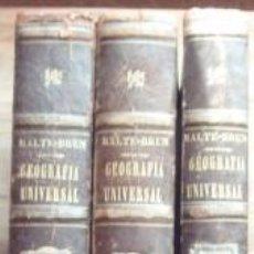 Libros antiguos: GEOGRAFÍA UNIVERSAL. TOMOS I, II Y III - MALTE-BRUN. 1875-76. Lote 101256524
