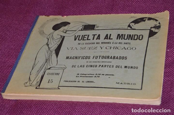 ANTIGUO LIBRO - VUELTA AL MUNDO - DE LA ESTACIÓN DEL MEDIODÍA A LA DEL NORTE VÍA SUEZ Y CHICAGO (Libros Antiguos, Raros y Curiosos - Geografía y Viajes)