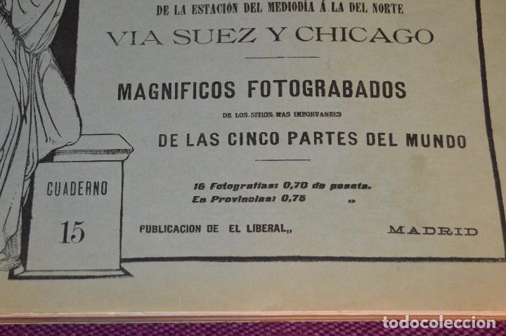 Libros antiguos: ANTIGUO LIBRO - VUELTA AL MUNDO - DE LA ESTACIÓN DEL MEDIODÍA A LA DEL NORTE VÍA SUEZ Y CHICAGO - Foto 3 - 104735339