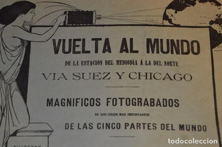 Libros antiguos: ANTIGUO LIBRO - VUELTA AL MUNDO - DE LA ESTACIÓN DEL MEDIODÍA A LA DEL NORTE VÍA SUEZ Y CHICAGO - Foto 4 - 104735339
