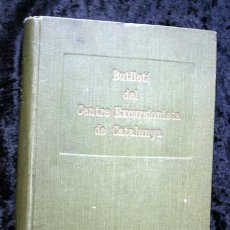 Libros antiguos: BUTLLETI DEL CENTRE EXCURSIONISTA DE CATALUNYA - 1919 - VOLUM XXIX - FOTOGRAFIAS - 288 A 299. Lote 107062787