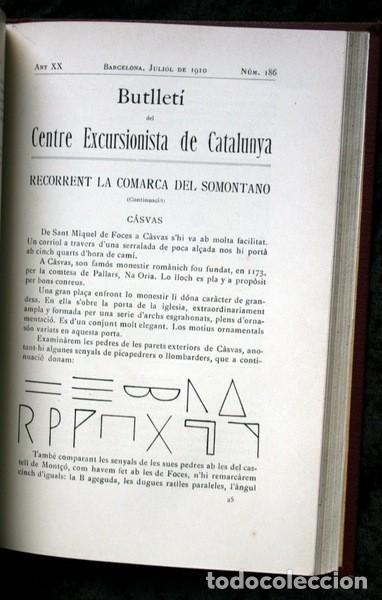 Libros antiguos: BUTLLETI DEL CENTRE EXCURSIONISTA DE CATALUNYA - 1910 - VOLUM XX , NÚMEROS 168 a 191 - Foto 9 - 107202615