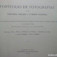 Libros antiguos: PORTFOLIO DE FOTOGRAFIAS DE CIUDADES Y PAISAJES. Lote 107232151