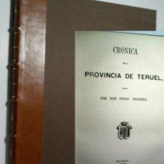 Libros antiguos: CRÓNICA GENERAL DE ESPAÑA O SEA HISTORIA ILUSTRADA Y DESCRIPTIVA DE SUS PROVINCIAS. TERUEL. 1866. Lote 108318423