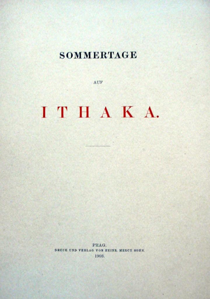 SOMMERTAGE AUF ITHAKA. - ERZHERZOG VON ÖSTERREICH, LUDWIG SALVATOR. (Libros Antiguos, Raros y Curiosos - Geografía y Viajes)