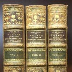 Libros antiguos: VOYAGE AU CAP DE BONNE-ESPERANCA, AUTOUR DU MONDE AVEC LE CAPITAINE COOK SPARRMAN, ANDRÉ. [BRUGALLA]. Lote 109022619