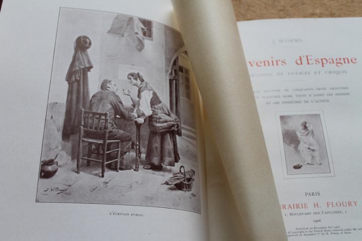 Libros antiguos: Souvenirs dEspagne. Impressions de voyages et croquis. Worms (J.) - Foto 3 - 17622304