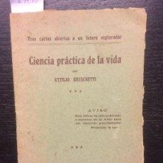 Libros antiguos: CIENCIA PRACTICA DE LA VIDA, ATTILIO BRUSCHETTI, 1914. Lote 111149719