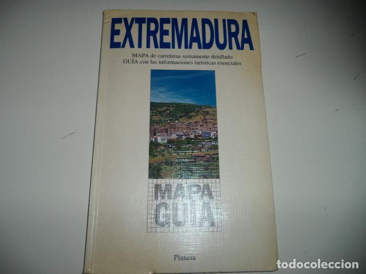 MAPA GUIA DE EXTREMADURA.GUIAS PLANETA. (Libros Antiguos, Raros y Curiosos - Geografía y Viajes)