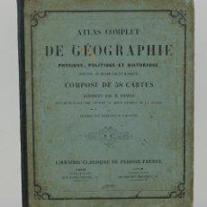 Libros antiguos: ATLAS COMPLET DE GÉOGRAPHIE-M.CHARLE-LIBRAIRIE CLASSIQUE DE PERISSE FRÈRES-1856-53 MAPAS GRABADOS. Lote 114380531