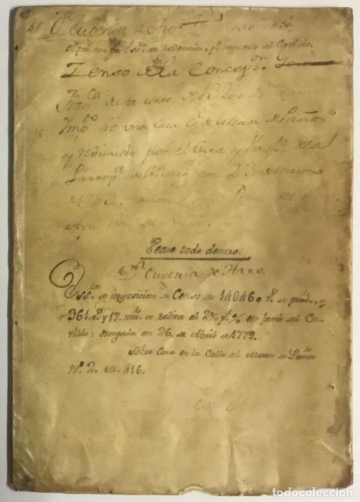 DOÑA EUGENIA DE HARO. ESCRITURA DE IMPOSICION DE CENSO DE... - [MANUSCRITO.] MADRID, 1683. (Libros Antiguos, Raros y Curiosos - Geografía y Viajes)
