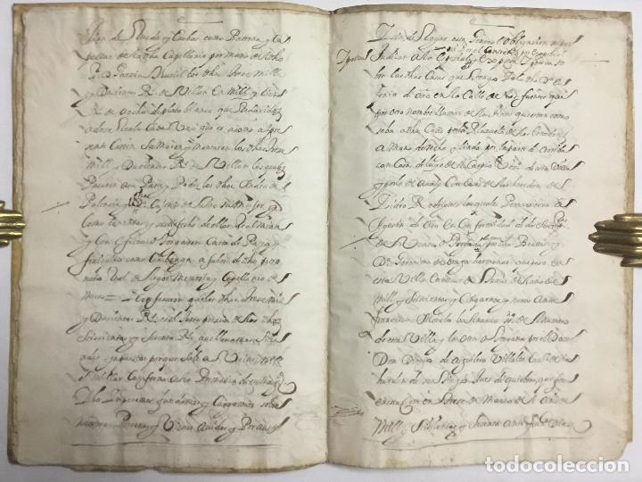 Libros antiguos: DOÑA EUGENIA DE HARO. ESCRITURA DE IMPOSICION DE CENSO DE... - [Manuscrito.] Madrid, 1683. - Foto 4 - 114799478