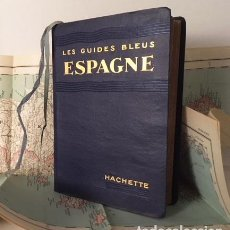 Libros antiguos: ESPAGNE 1927. GUIDES BLEUS. (1 MAPA PLEGADO + 10 MAPAS, 55 PLANOS). Lote 195180380