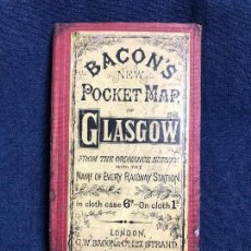 Libros antiguos: BACONS NEW POCKET MAP OF GLASGOW RAILWAY STATION LONDON 17,5X10,5CMS. Lote 115927403
