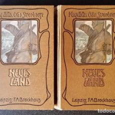 Libros antiguos: FIRMADO POR C. WITTGENSTEIN / OTTO SVERDRUP, NEUES LAND, 1903, 1ª EDICIÓN / / EXPEDICIÓN ARTICO /. Lote 116789399