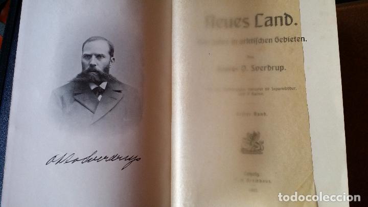 Libros antiguos: firmado por C. WITTGENSTEIN / Otto Sverdrup, NEUES LAND, 1903, 1ª edición / / Expedición ARTICO / - Foto 7 - 116789399