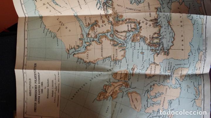 Libros antiguos: firmado por C. WITTGENSTEIN / Otto Sverdrup, NEUES LAND, 1903, 1ª edición / / Expedición ARTICO / - Foto 10 - 116789399