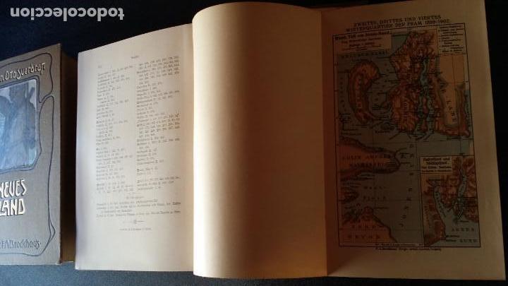 Libros antiguos: firmado por C. WITTGENSTEIN / Otto Sverdrup, NEUES LAND, 1903, 1ª edición / / Expedición ARTICO / - Foto 12 - 116789399