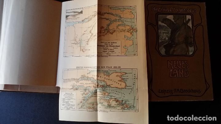 Libros antiguos: firmado por C. WITTGENSTEIN / Otto Sverdrup, NEUES LAND, 1903, 1ª edición / / Expedición ARTICO / - Foto 13 - 116789399