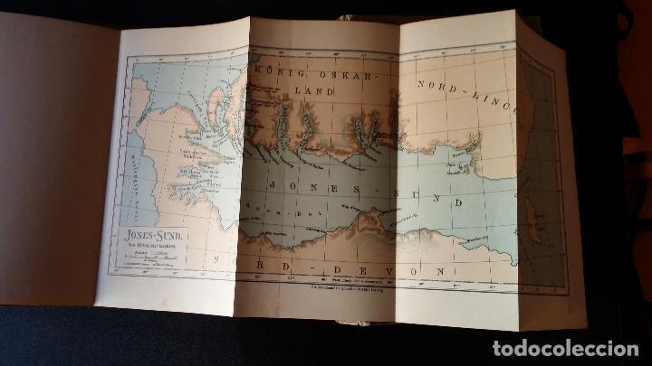 Libros antiguos: firmado por C. WITTGENSTEIN / Otto Sverdrup, NEUES LAND, 1903, 1ª edición / / Expedición ARTICO / - Foto 14 - 116789399