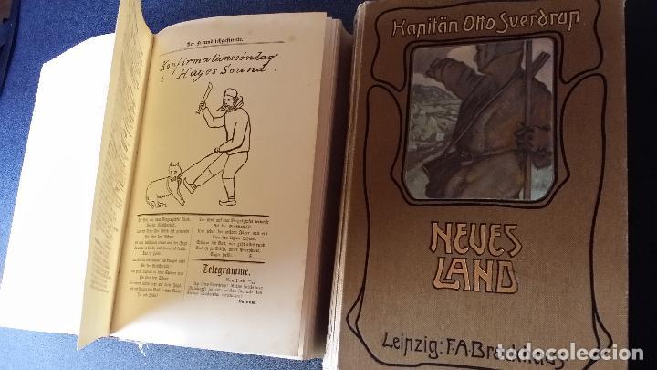 Libros antiguos: firmado por C. WITTGENSTEIN / Otto Sverdrup, NEUES LAND, 1903, 1ª edición / / Expedición ARTICO / - Foto 16 - 116789399